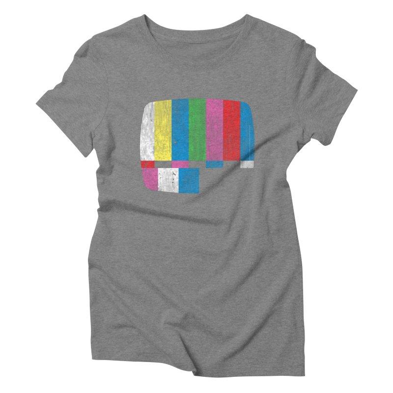 Test Pattern Women's Triblend T-shirt by Tom Burns
