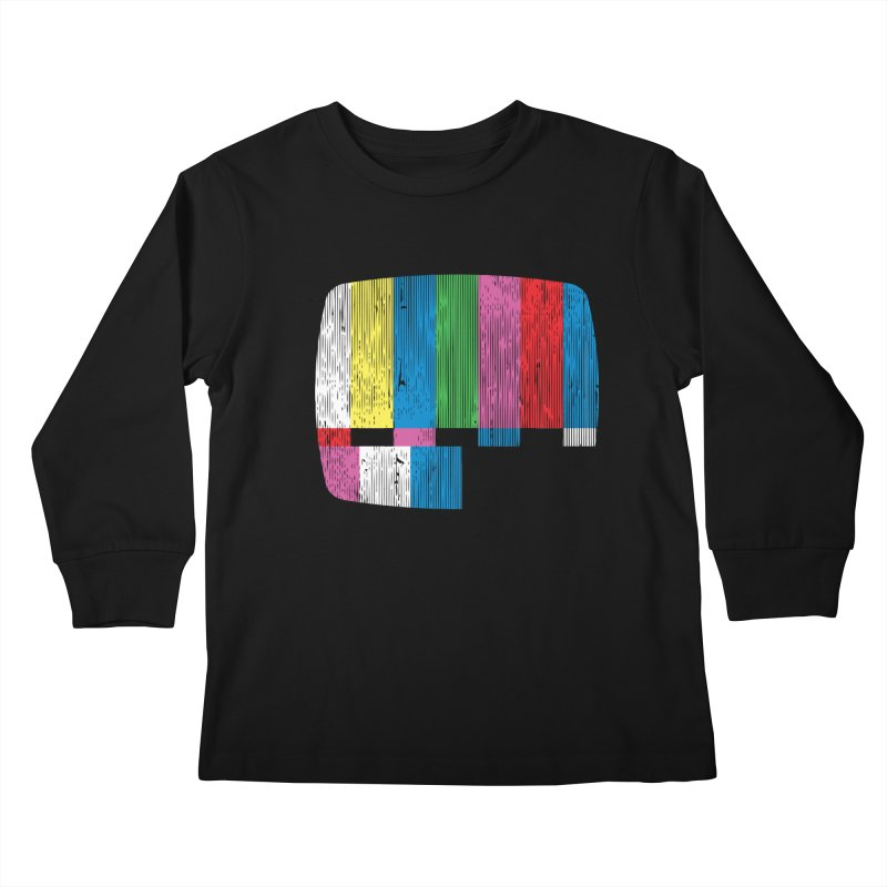 Test Pattern Kids Longsleeve T-Shirt by Tom Burns