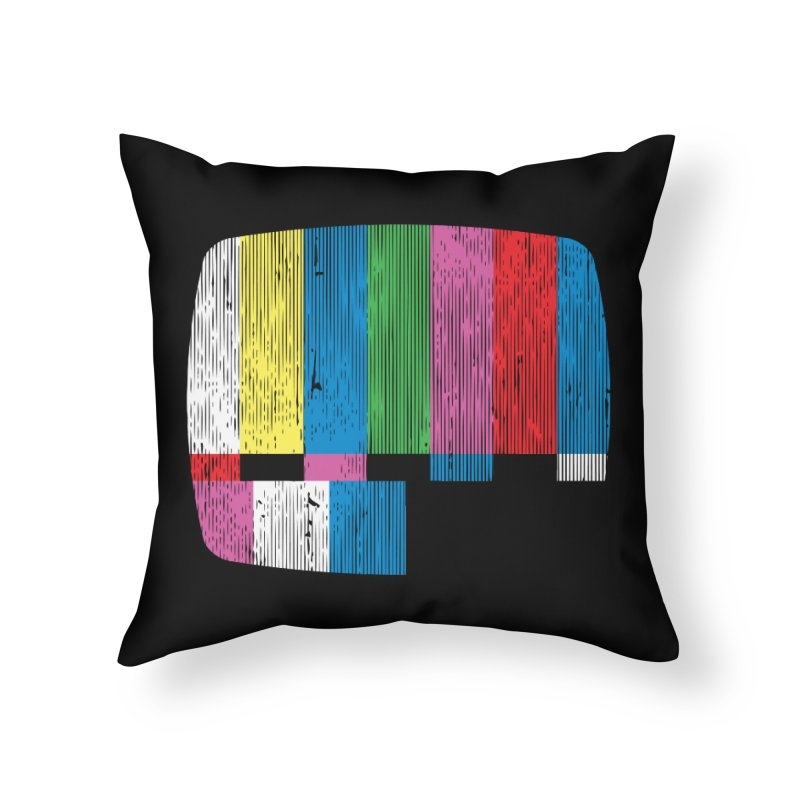 Test Pattern Home Throw Pillow by Tom Burns