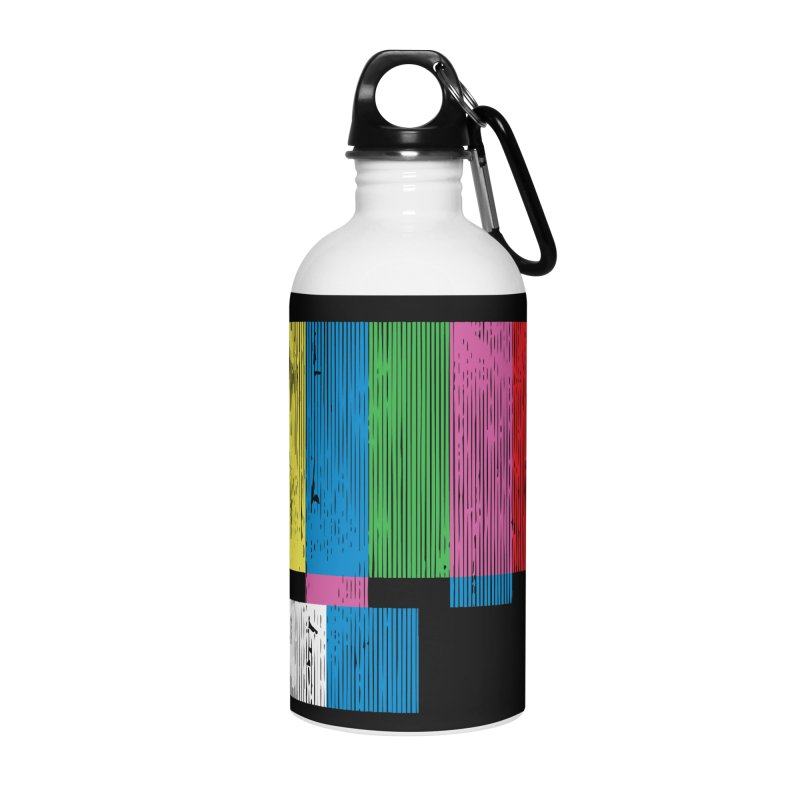 Test Pattern Accessories Water Bottle by Tom Burns