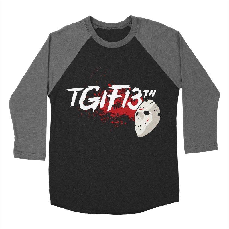 TGIFthe13th Women's Baseball Triblend Longsleeve T-Shirt by Tom Burns