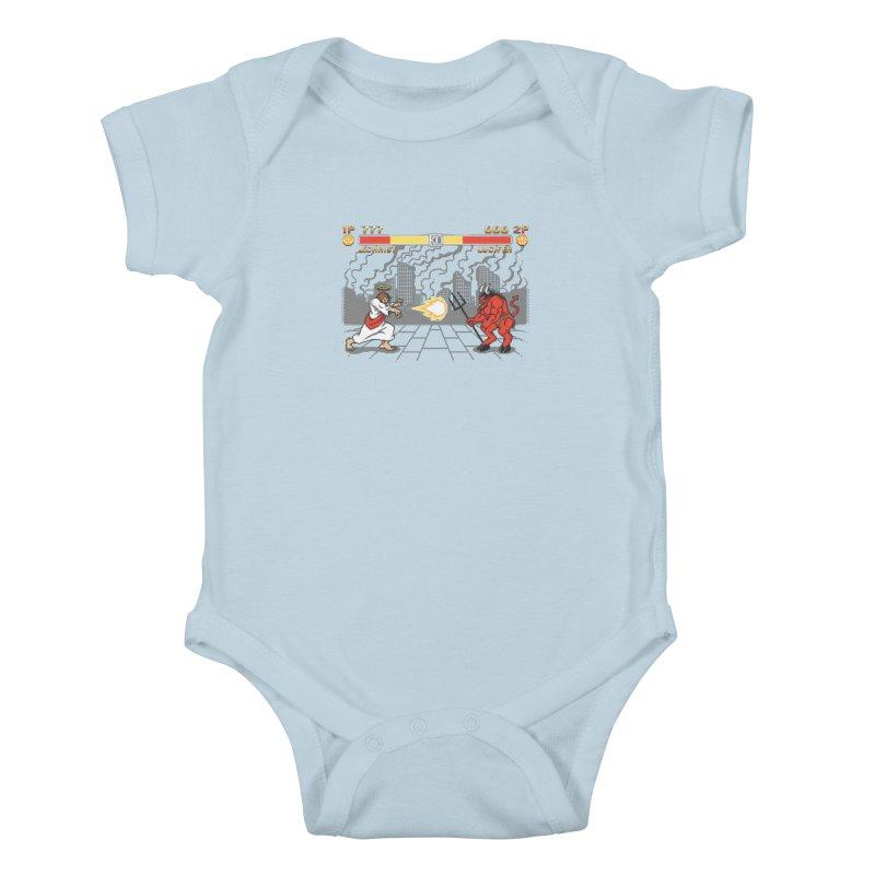 The Final Battle Kids Baby Bodysuit by Tom Burns