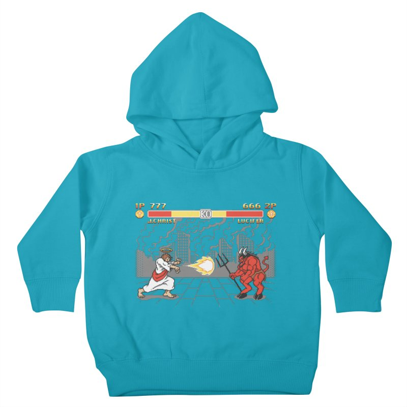 The Final Battle Kids Toddler Pullover Hoody by Tom Burns