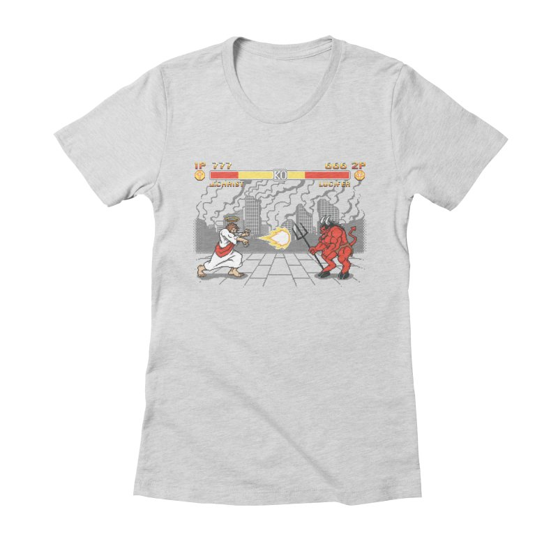 The Final Battle Women's Fitted T-Shirt by Tom Burns