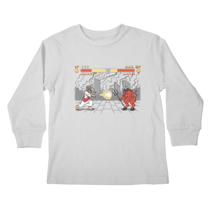 The Final Battle Kids Longsleeve T-Shirt by Tom Burns