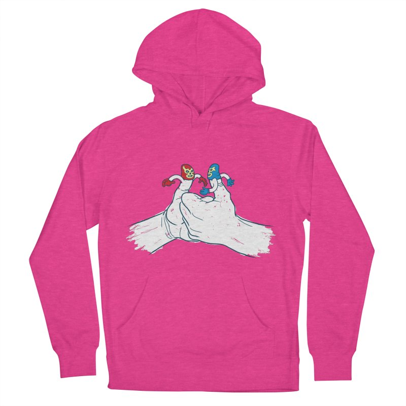 Thumb Wrestlers Women's French Terry Pullover Hoody by Tom Burns