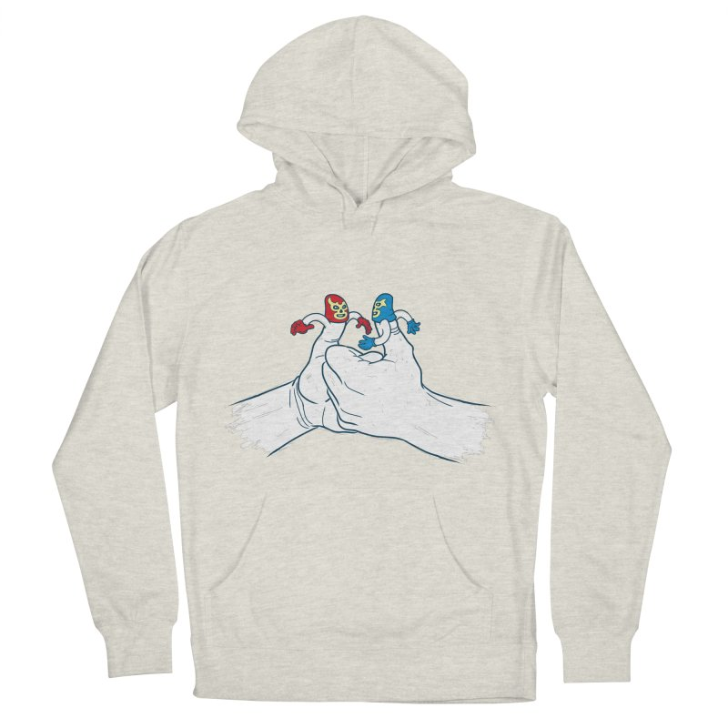 Thumb Wrestlers Men's French Terry Pullover Hoody by Tom Burns