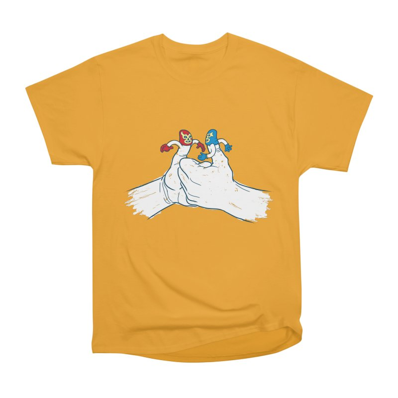 Thumb Wrestlers Women's Heavyweight Unisex T-Shirt by Tom Burns