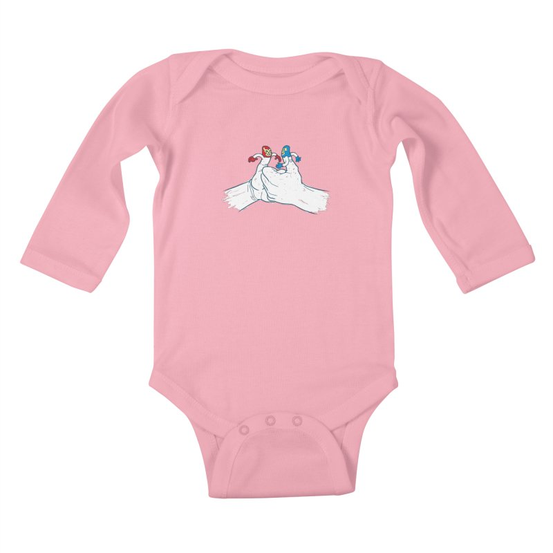 Thumb Wrestlers Kids Baby Longsleeve Bodysuit by Tom Burns