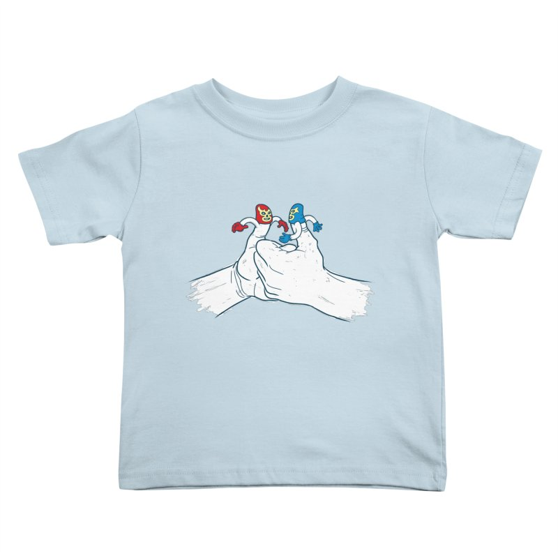 Thumb Wrestlers Kids Toddler T-Shirt by Tom Burns