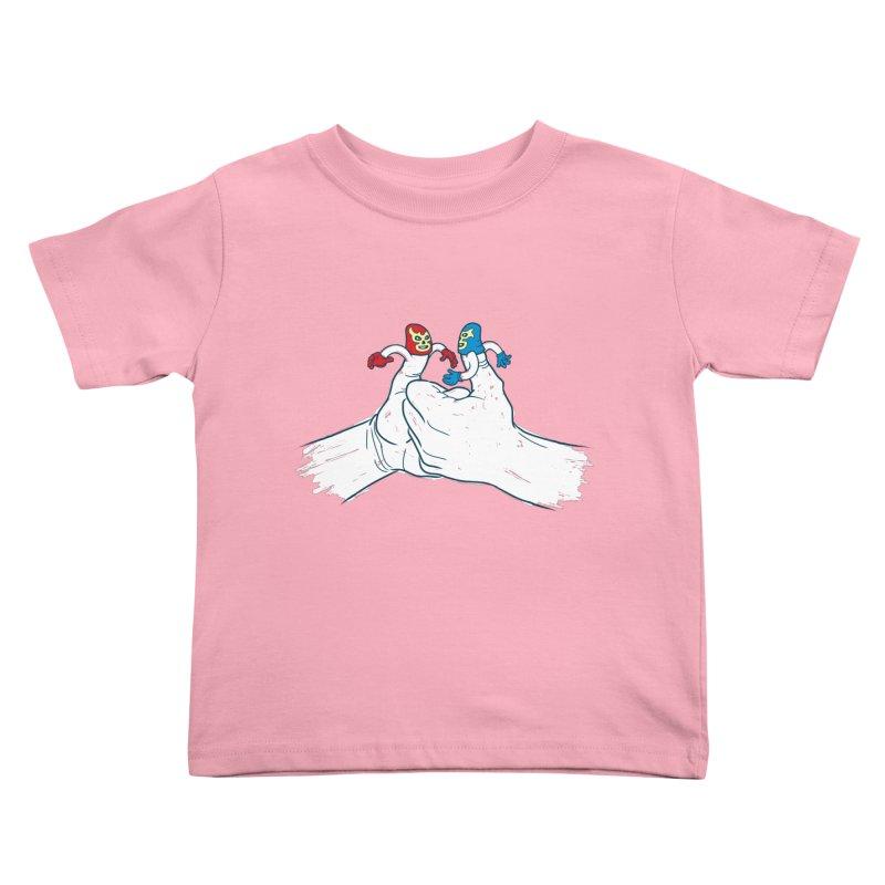 Thumb Wrestlers Kids Toddler T-Shirt by Tom Burns
