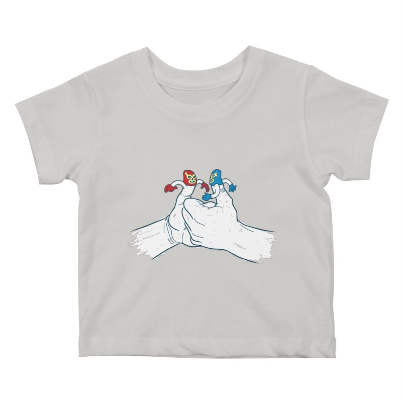 Thumb Wrestlers Kids Baby T-Shirt by Tom Burns