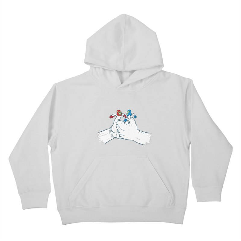 Thumb Wrestlers Kids Pullover Hoody by Tom Burns