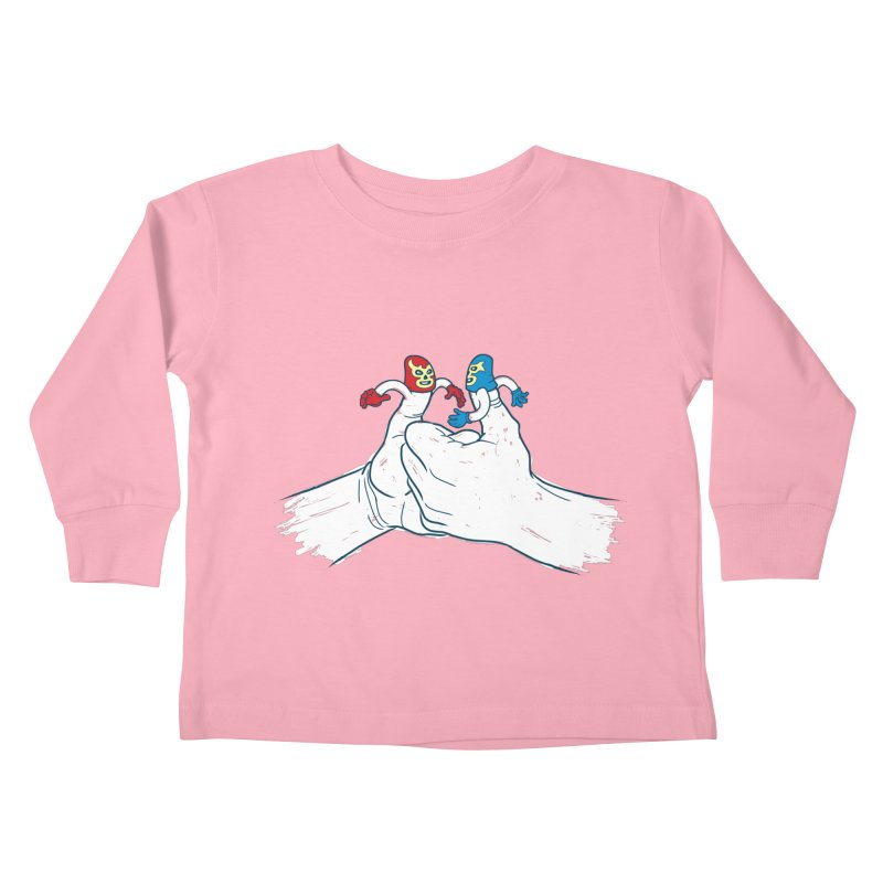 Thumb Wrestlers Kids Toddler Longsleeve T-Shirt by Tom Burns