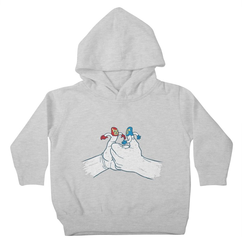 Thumb Wrestlers Kids Toddler Pullover Hoody by Tom Burns