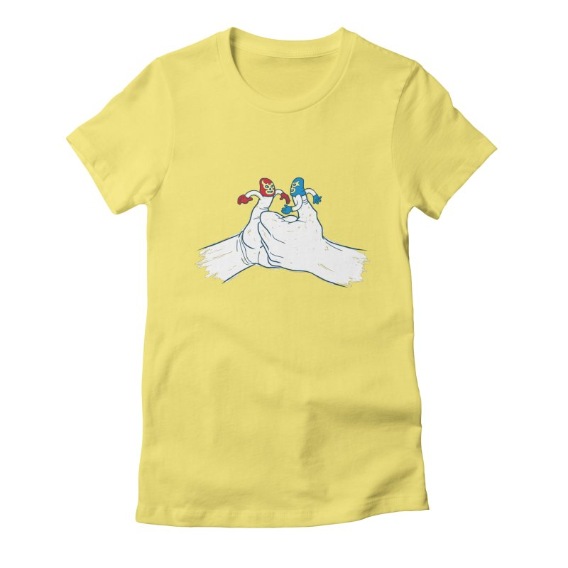 Thumb Wrestlers Women's Fitted T-Shirt by Tom Burns