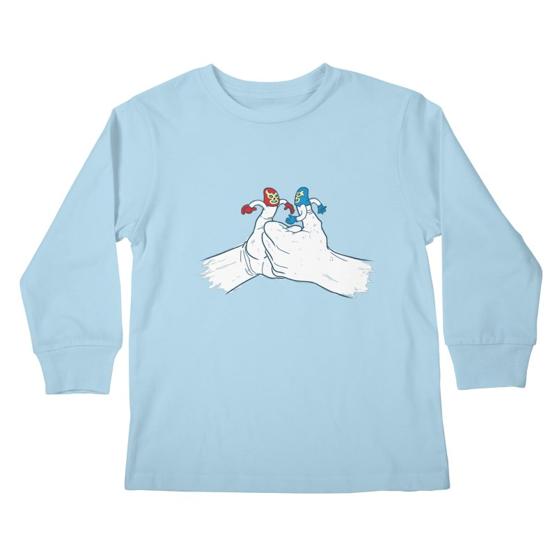 Thumb Wrestlers Kids Longsleeve T-Shirt by Tom Burns