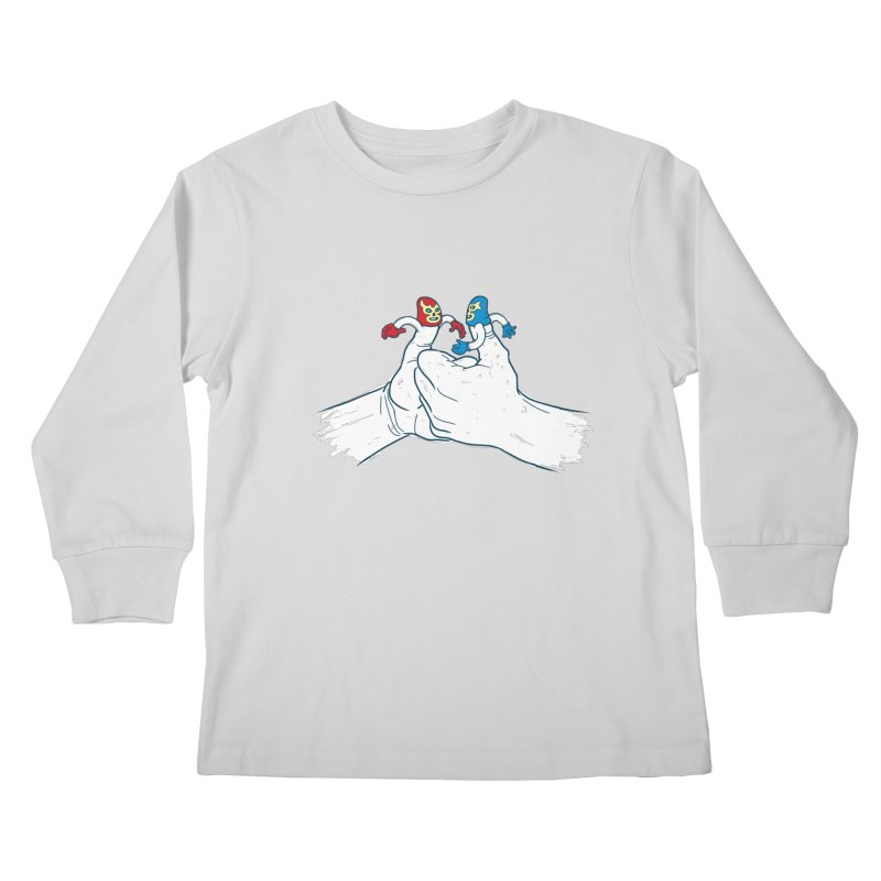 Thumb Wrestlers Kids Longsleeve T-Shirt by Tom Burns