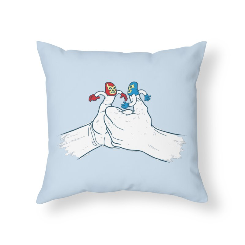 Thumb Wrestlers Home Throw Pillow by Tom Burns