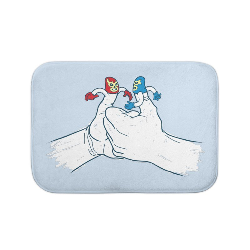 Thumb Wrestlers Home Bath Mat by Tom Burns