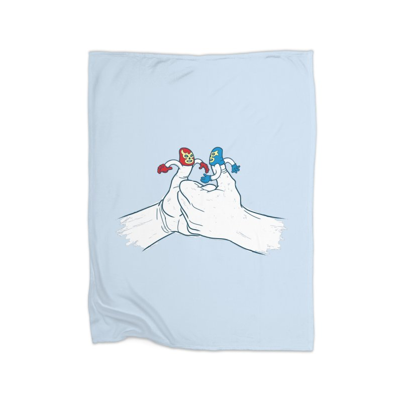 Thumb Wrestlers Home Fleece Blanket by Tom Burns