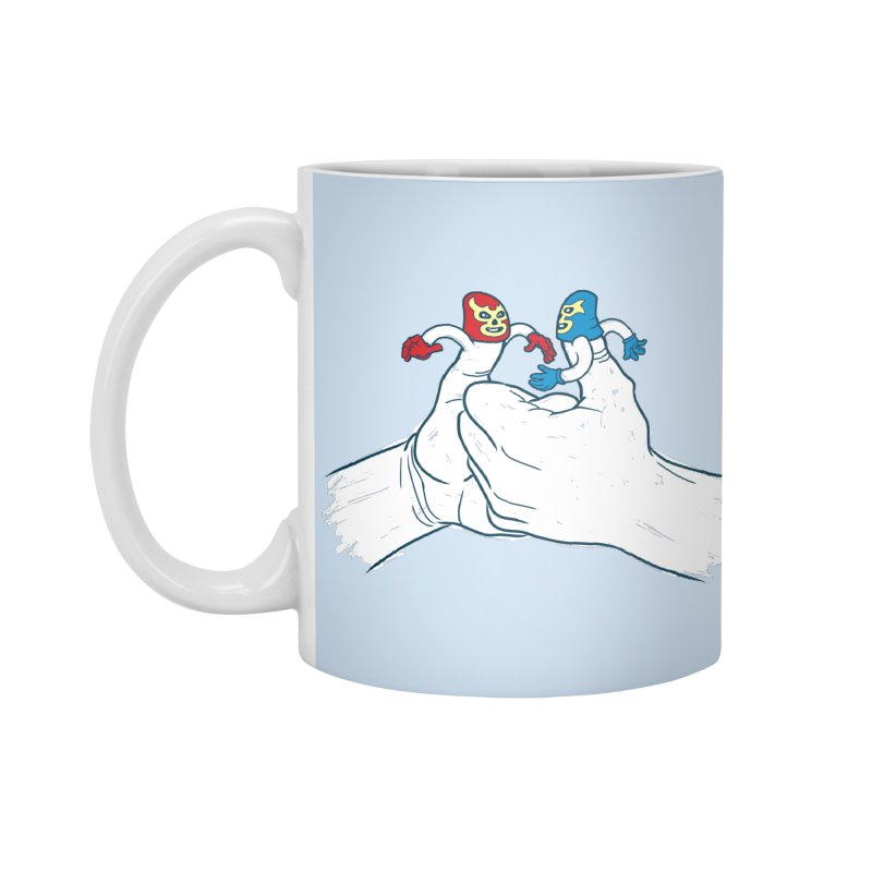 Thumb Wrestlers Accessories Mug by Tom Burns