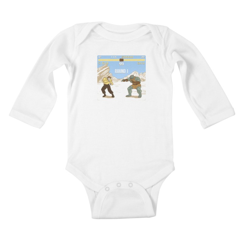 Arena Fighter Kids Baby Longsleeve Bodysuit by Tom Burns