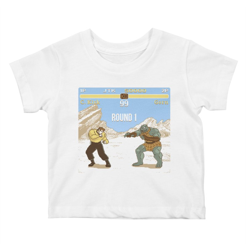 Arena Fighter Kids Baby T-Shirt by Tom Burns