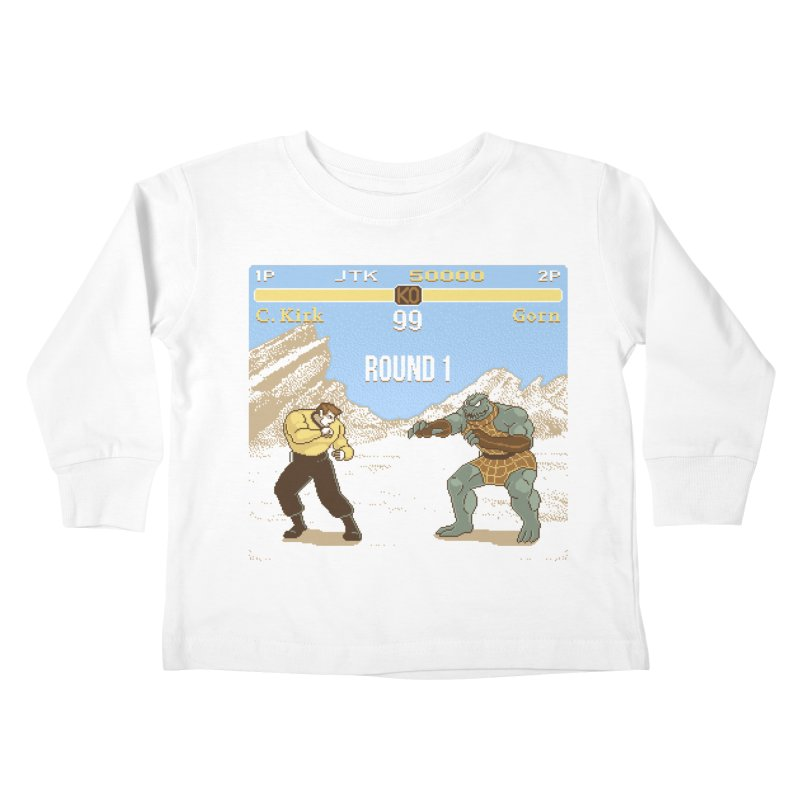 Arena Fighter Kids Toddler Longsleeve T-Shirt by Tom Burns