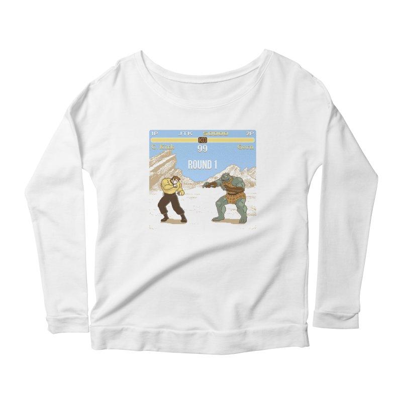 Arena Fighter Women's Scoop Neck Longsleeve T-Shirt by Tom Burns