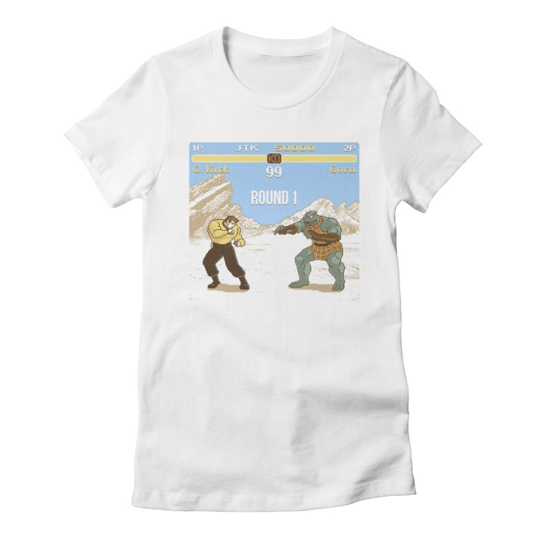 Arena Fighter Women's Fitted T-Shirt by Tom Burns
