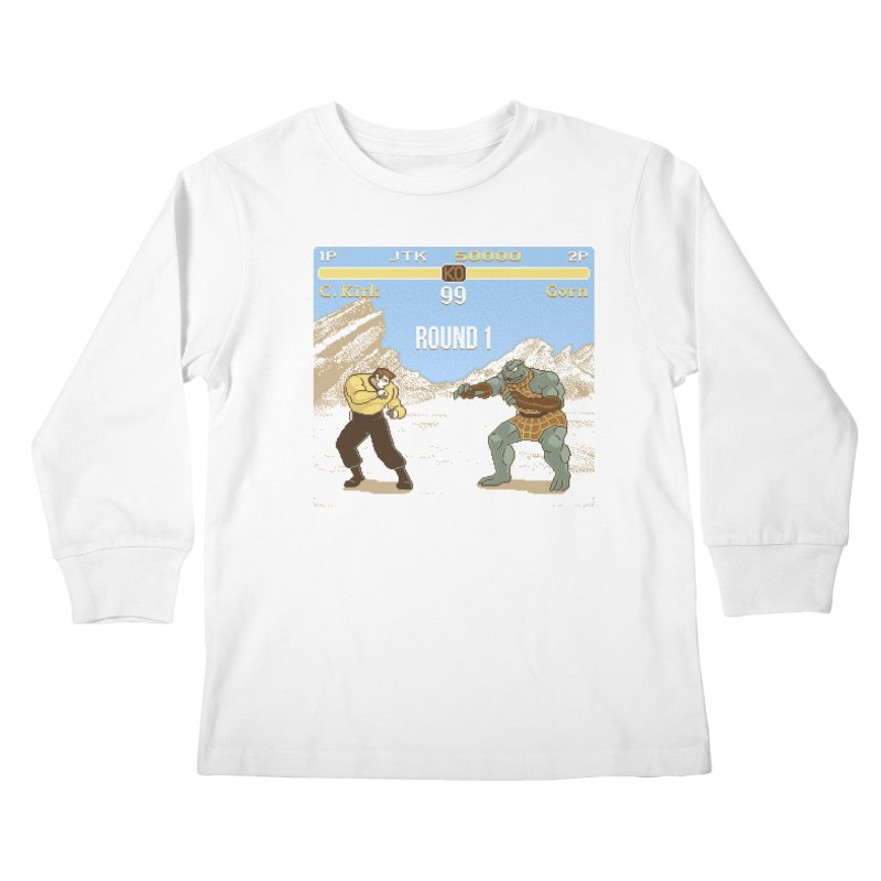 Arena Fighter Kids Longsleeve T-Shirt by Tom Burns