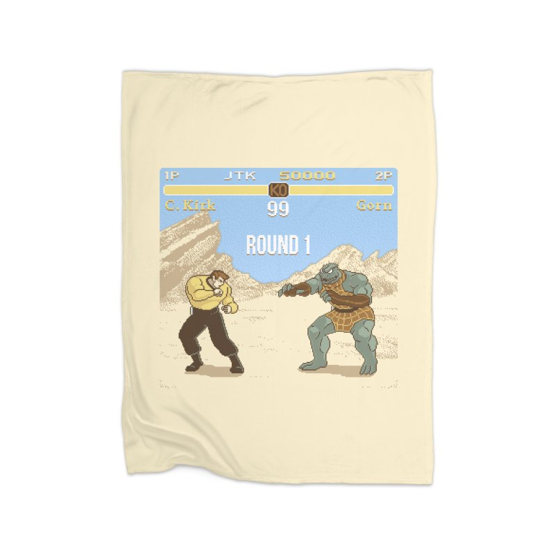 Arena Fighter Home Fleece Blanket by Tom Burns