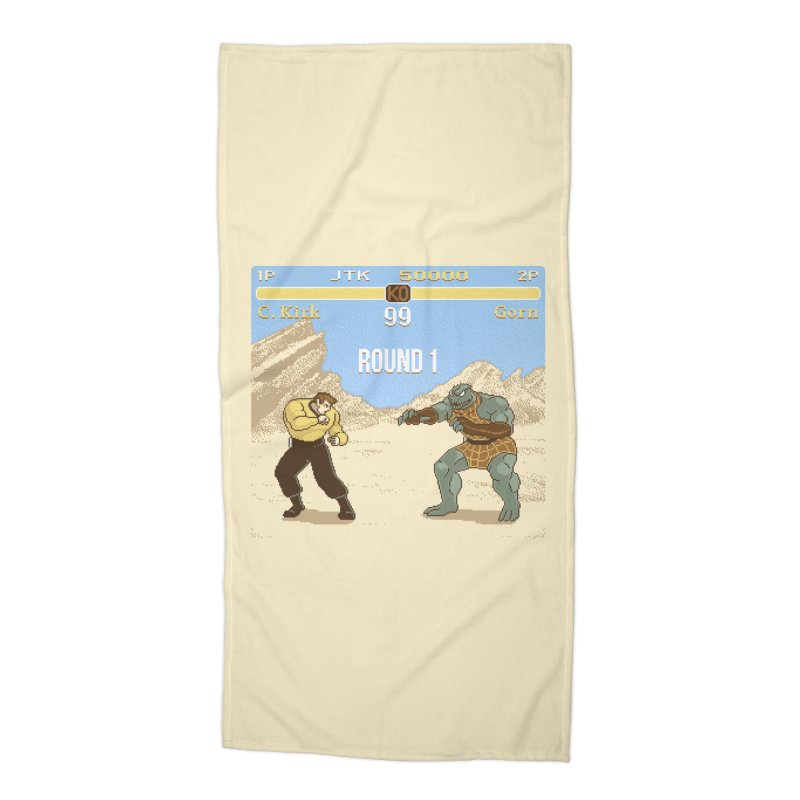 Arena Fighter Accessories Beach Towel by Tom Burns