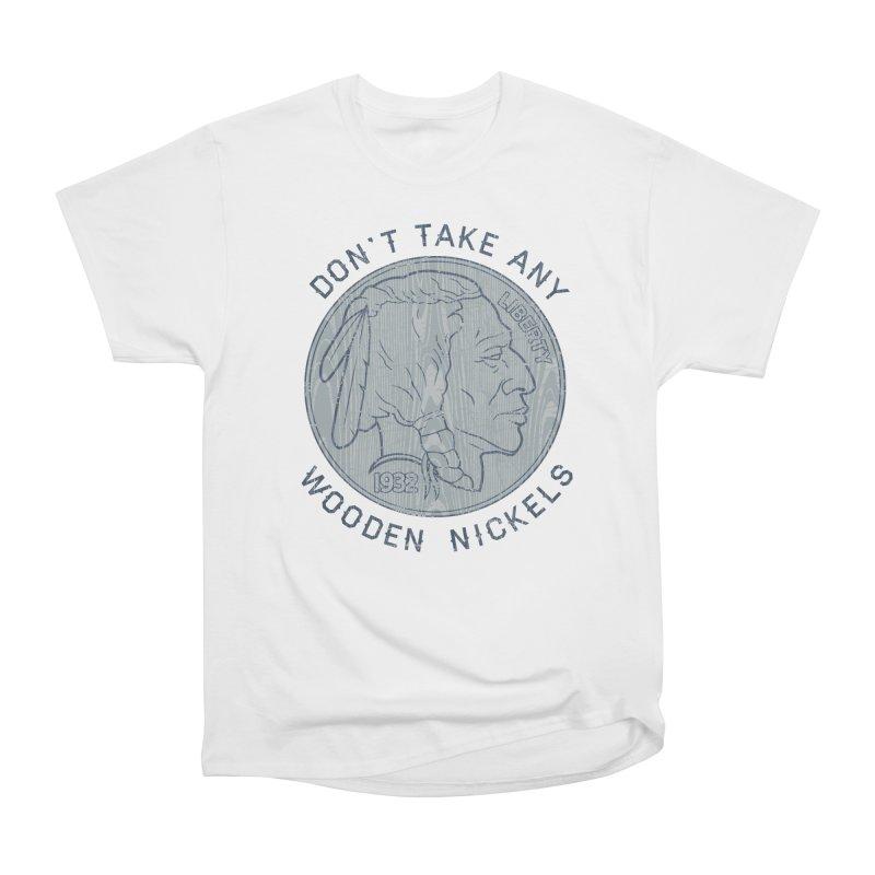 Wooden Nickels Men's Heavyweight T-Shirt by Tom Burns