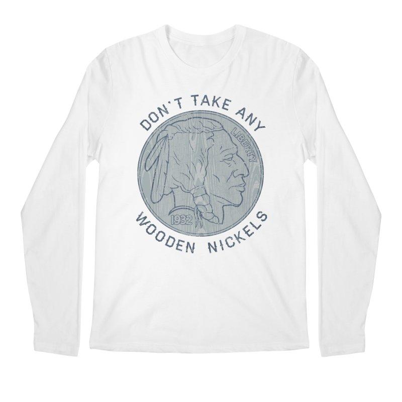 Wooden Nickels Men's Regular Longsleeve T-Shirt by Tom Burns
