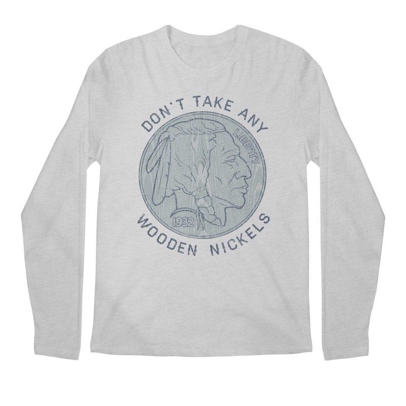 Wooden Nickels Men's Longsleeve T-Shirt by Tom Burns