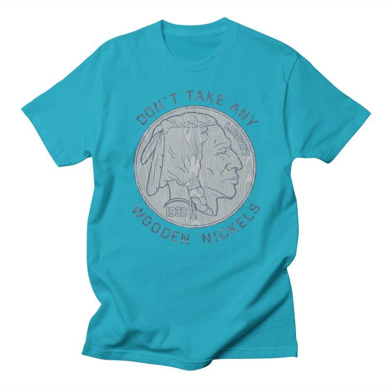 Wooden Nickels Men's Regular T-Shirt by Tom Burns