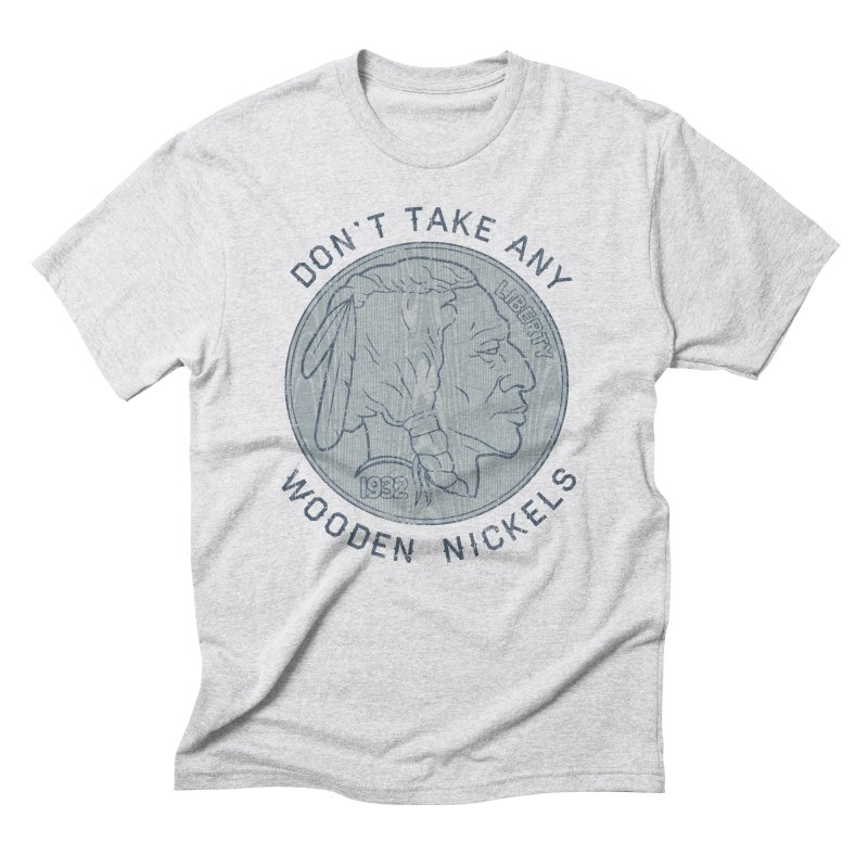 Wooden Nickels Men's Triblend T-Shirt by Tom Burns