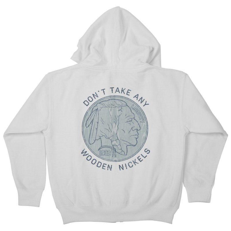 Wooden Nickels Kids Zip-Up Hoody by Tom Burns