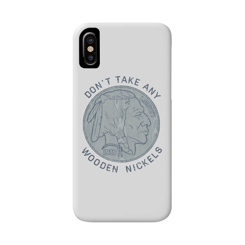 Wooden Nickels Accessories Phone Case by Tom Burns