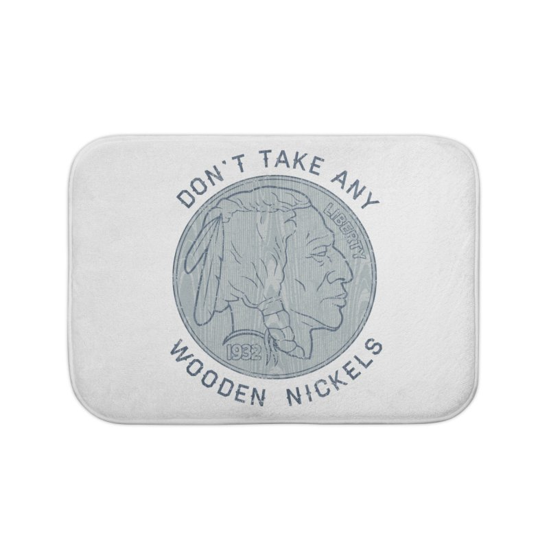 Wooden Nickels Home Bath Mat by Tom Burns