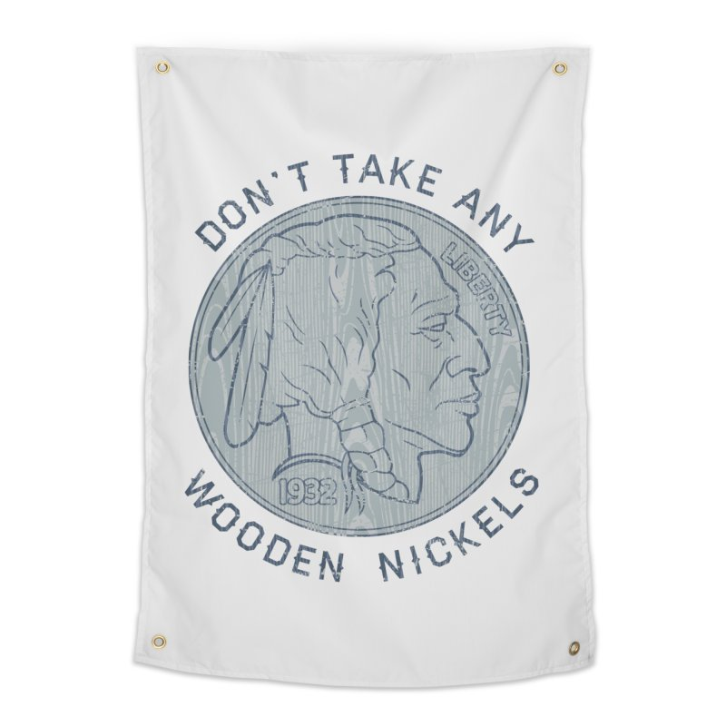 Wooden Nickels Home Tapestry by Tom Burns