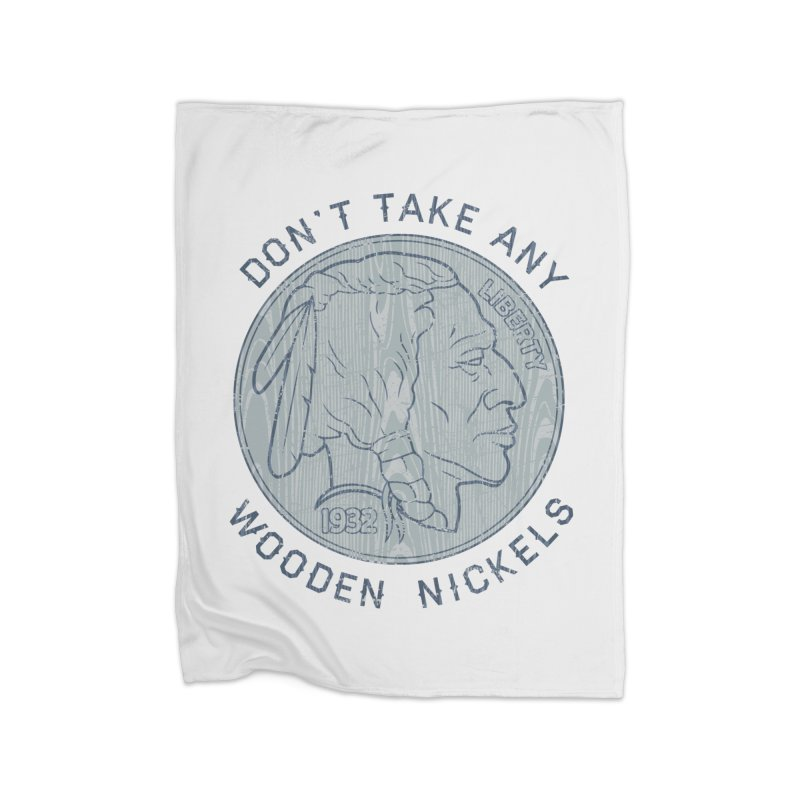 Wooden Nickels Home Blanket by Tom Burns