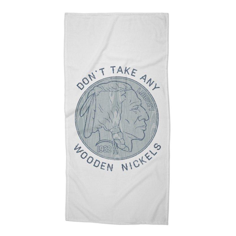 Wooden Nickels Accessories Beach Towel by Tom Burns