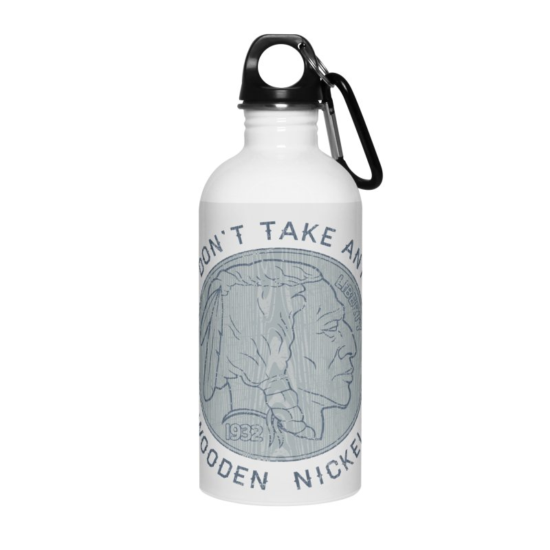 Wooden Nickels Accessories Water Bottle by Tom Burns