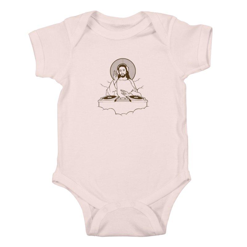 WWDJJD? Kids Baby Bodysuit by Tom Burns