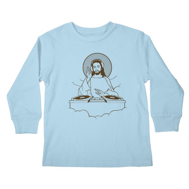 WWDJJD? Kids Longsleeve T-Shirt by Tom Burns