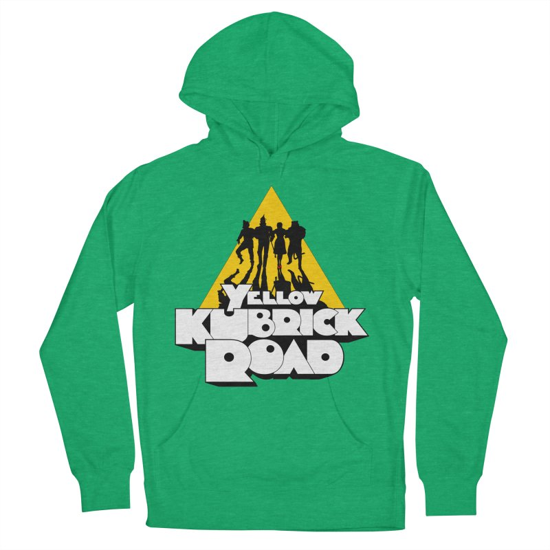 Follow the Yellow Kubrick Road Women's French Terry Pullover Hoody by Tom Burns