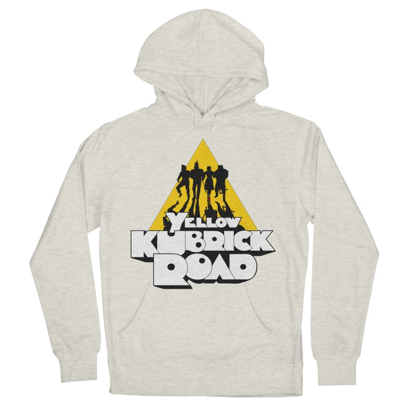 Follow the Yellow Kubrick Road Men's French Terry Pullover Hoody by Tom Burns